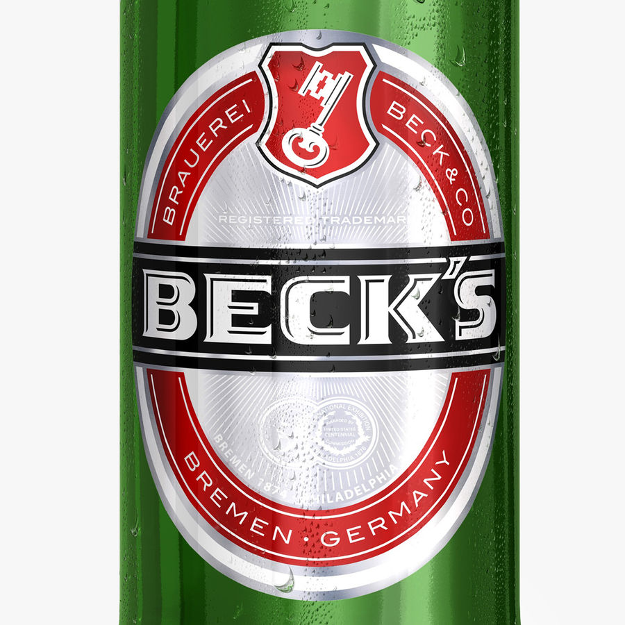 Beck`s Bottle royalty-free 3d model - Preview no. 4