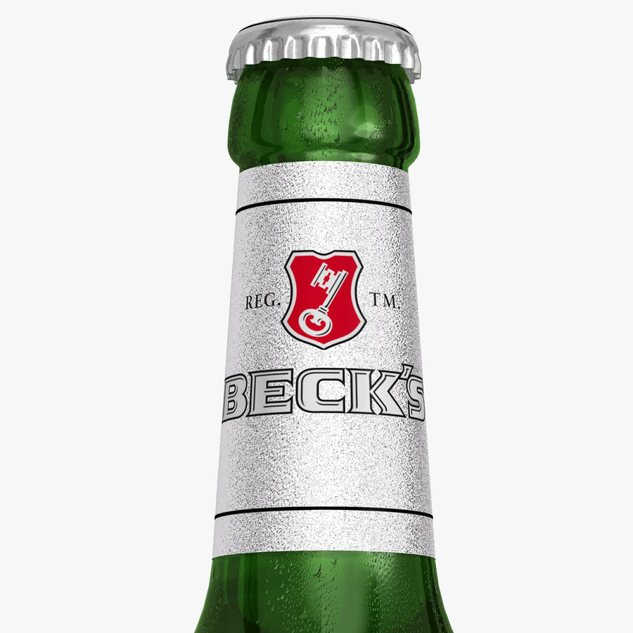 Beck`s Bottle royalty-free 3d model - Preview no. 2