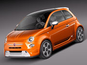 Fiat 500e 2014 3d model