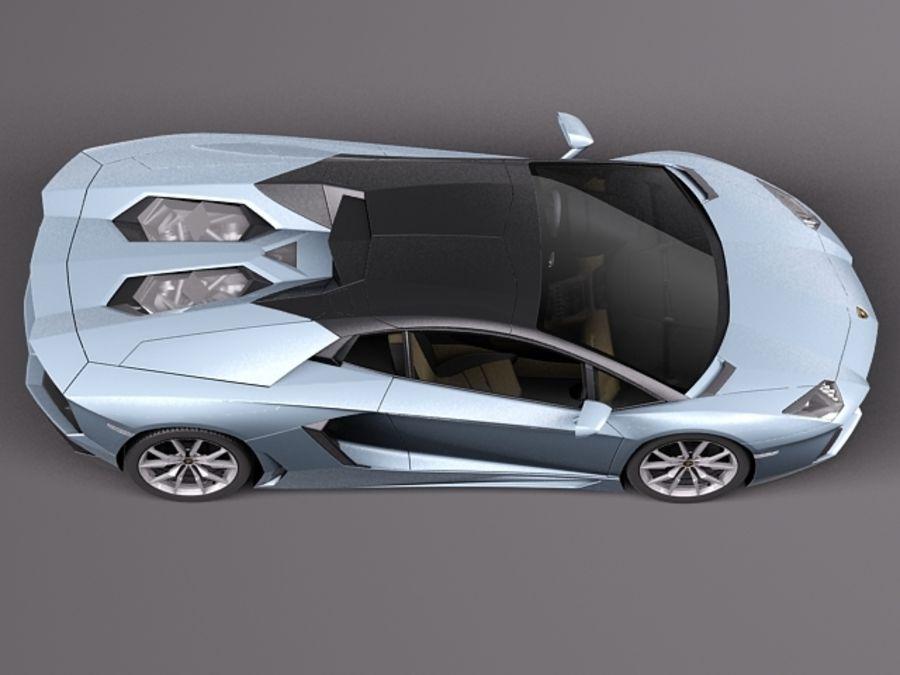Lamborghini Aventador LP700-4 Roadster 2014 royalty-free 3d model - Preview no. 11