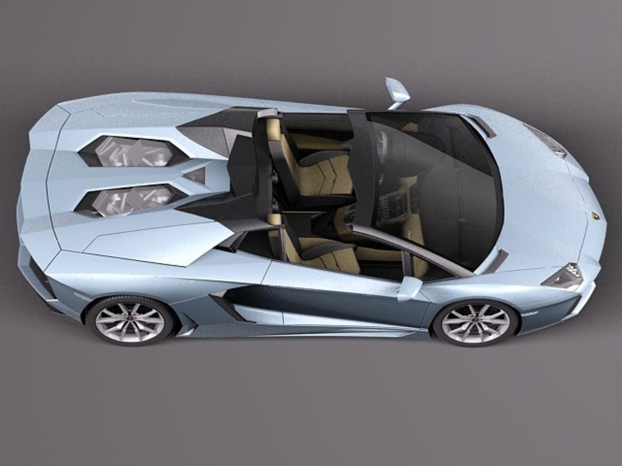Lamborghini Aventador LP700-4 Roadster 2014 royalty-free 3d model - Preview no. 12