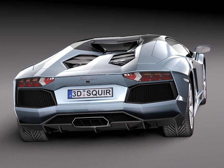 Lamborghini Aventador LP700-4 Roadster 2014 royalty-free 3d model - Preview no. 8