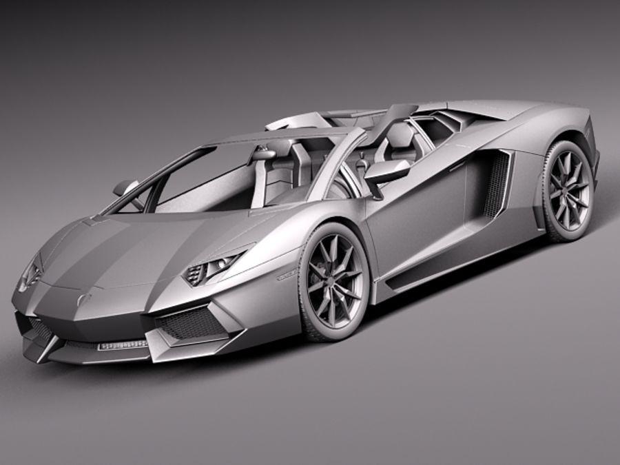 Lamborghini Aventador LP700-4 Roadster 2014 royalty-free 3d model - Preview no. 14