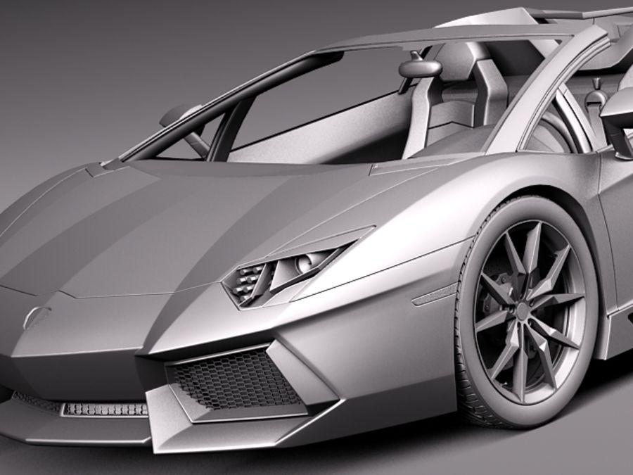Lamborghini Aventador LP700-4 Roadster 2014 royalty-free 3d model - Preview no. 15