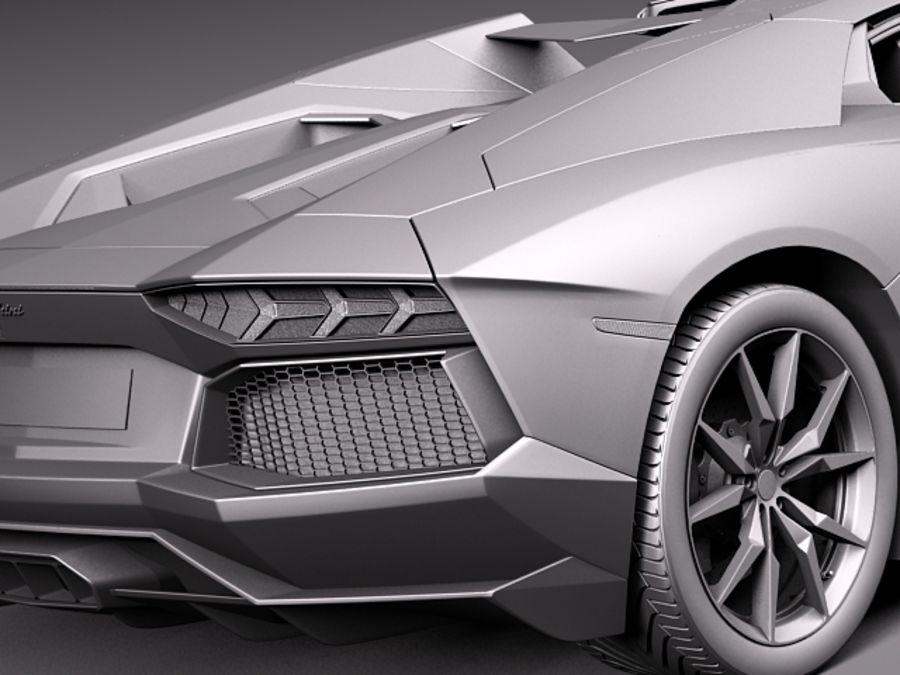 Lamborghini Aventador LP700-4 Roadster 2014 royalty-free 3d model - Preview no. 16