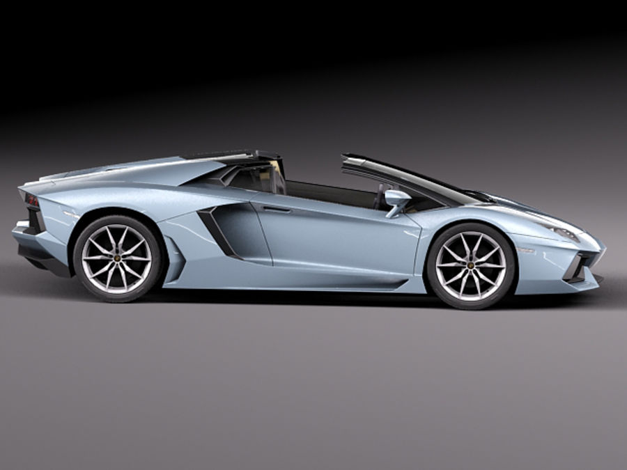 Lamborghini Aventador LP700-4 Roadster 2014 royalty-free 3d model - Preview no. 10