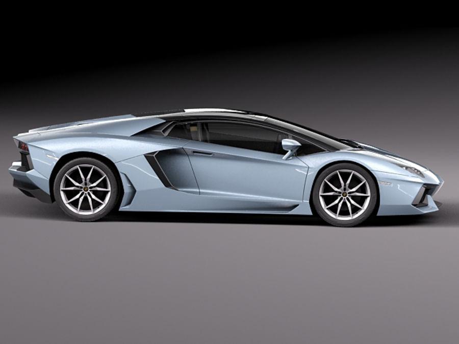Lamborghini Aventador LP700-4 Roadster 2014 royalty-free 3d model - Preview no. 9