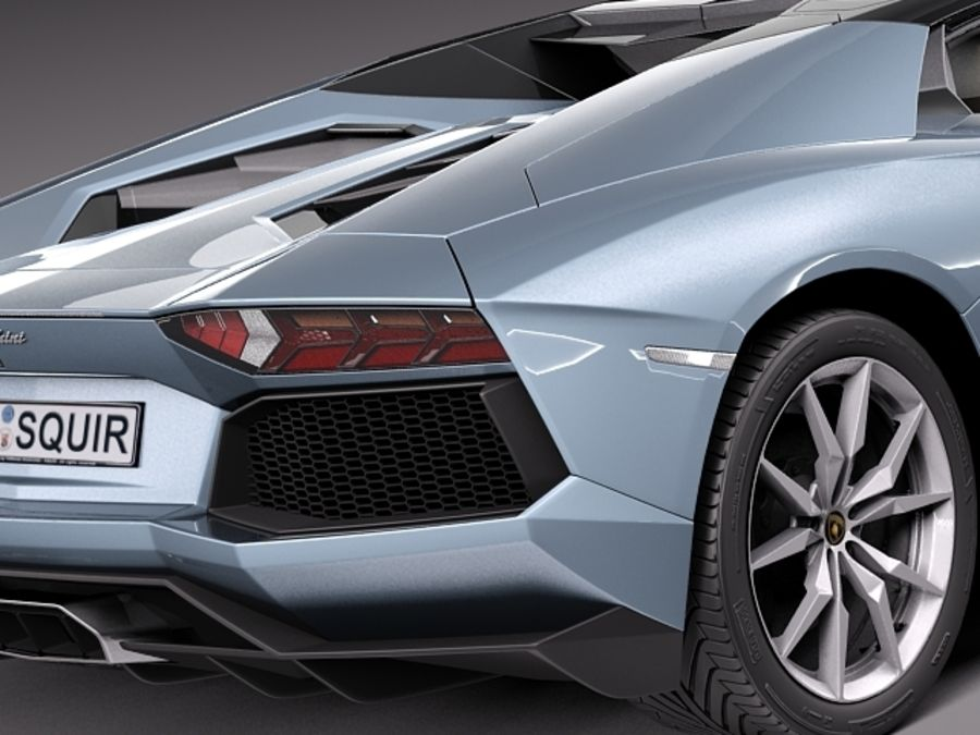 Lamborghini Aventador LP700-4 Roadster 2014 royalty-free 3d model - Preview no. 5