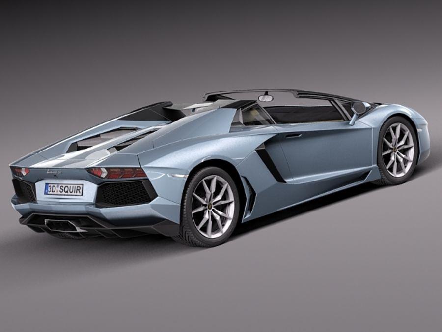Lamborghini Aventador LP700-4 Roadster 2014 royalty-free 3d model - Preview no. 7