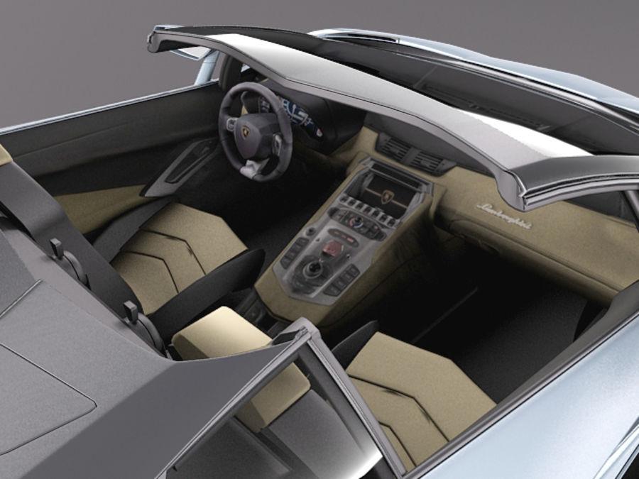 Lamborghini Aventador LP700-4 Roadster 2014 royalty-free 3d model - Preview no. 13