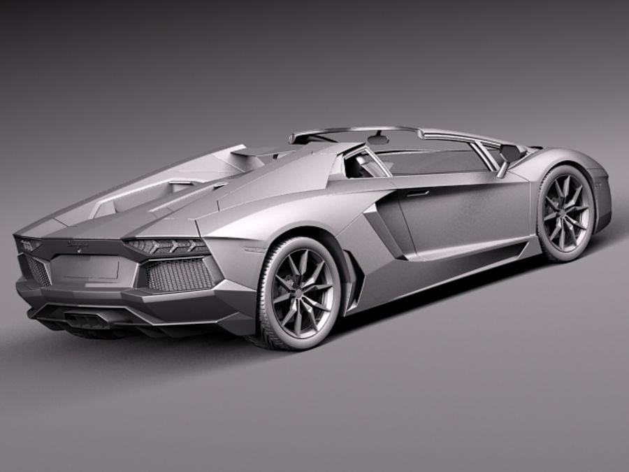 Lamborghini Aventador LP700-4 Roadster 2014 royalty-free 3d model - Preview no. 17
