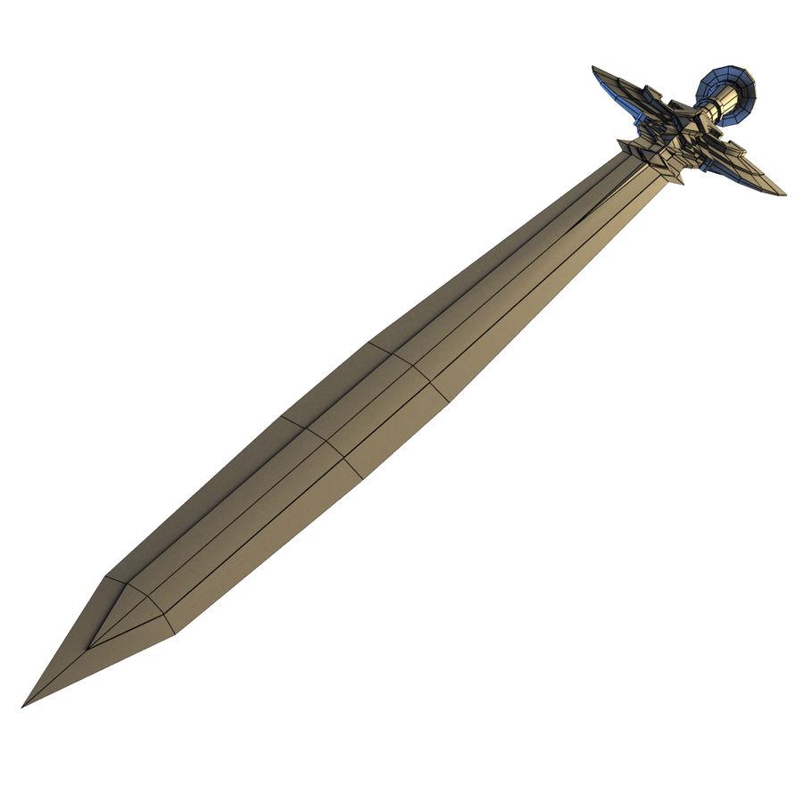 Sword concept royalty-free 3d model - Preview no. 11
