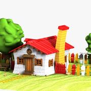 Cartoon House (1) 3d model