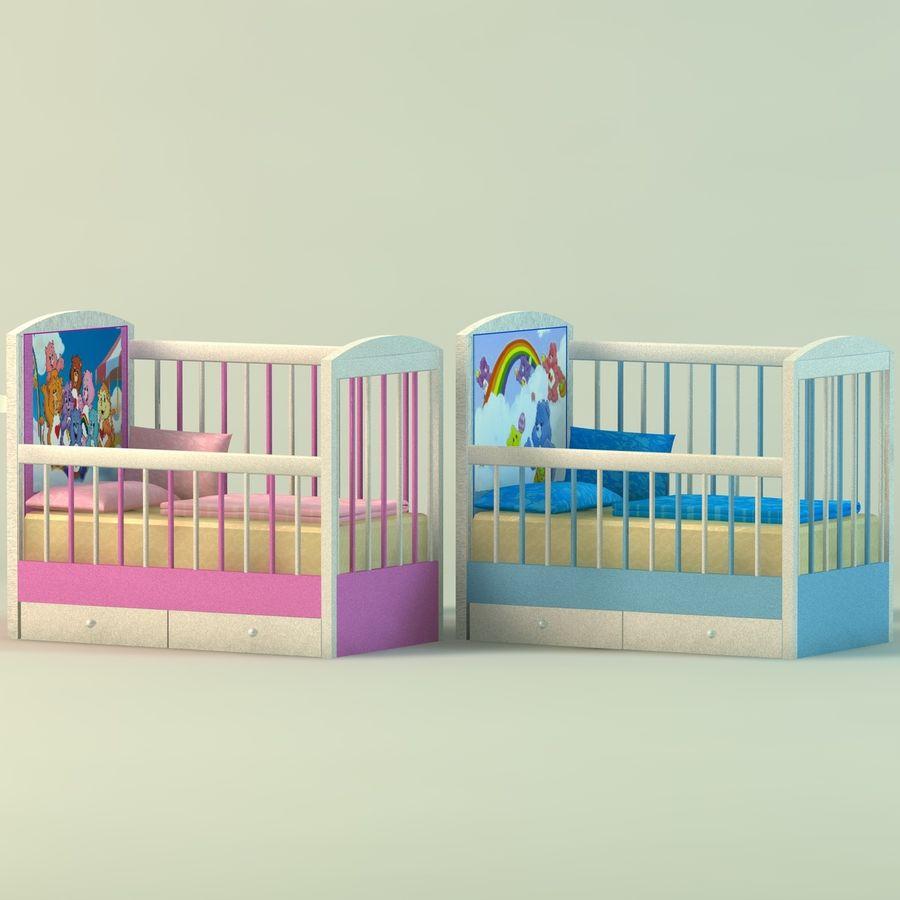 Spädbarn Spjälsäng royalty-free 3d model - Preview no. 1