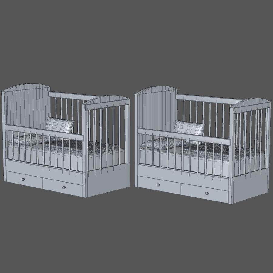 Spädbarn Spjälsäng royalty-free 3d model - Preview no. 5
