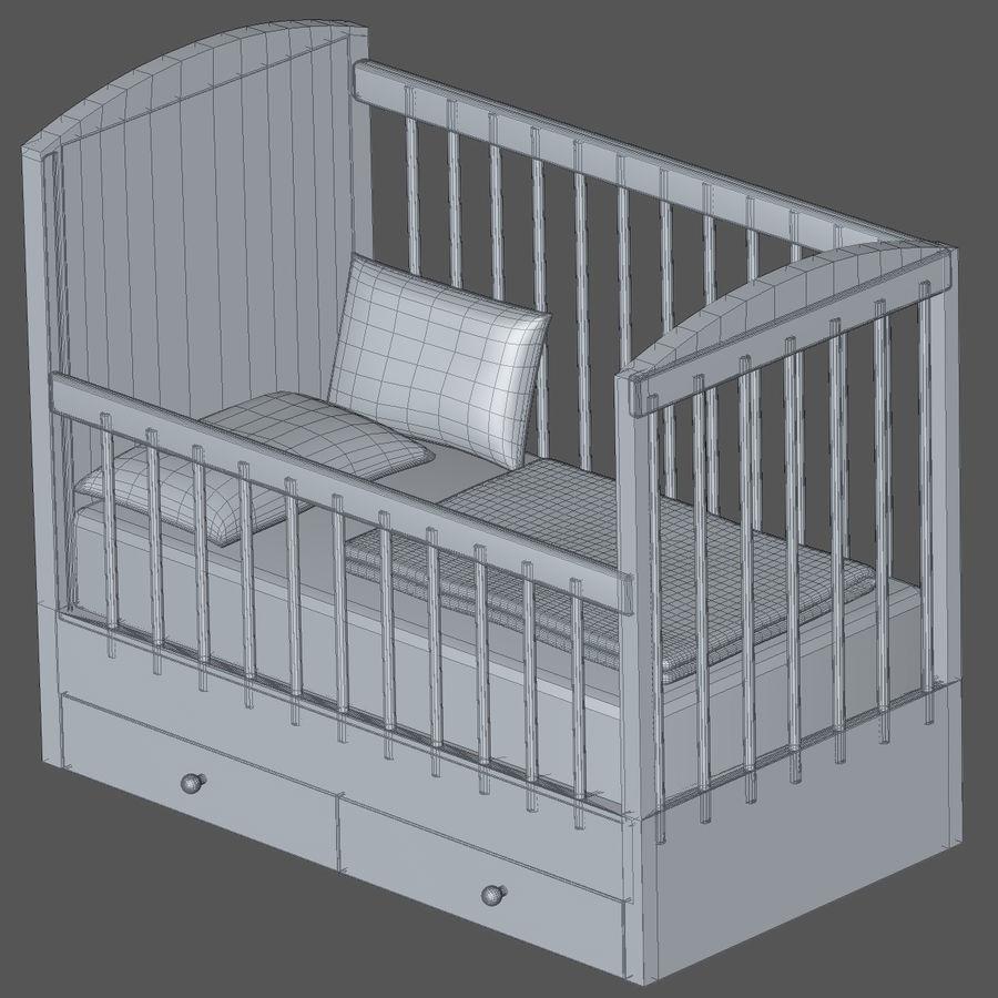 Spädbarn Spjälsäng royalty-free 3d model - Preview no. 7