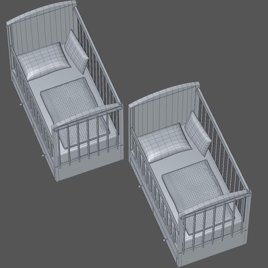 Spädbarn Spjälsäng royalty-free 3d model - Preview no. 6