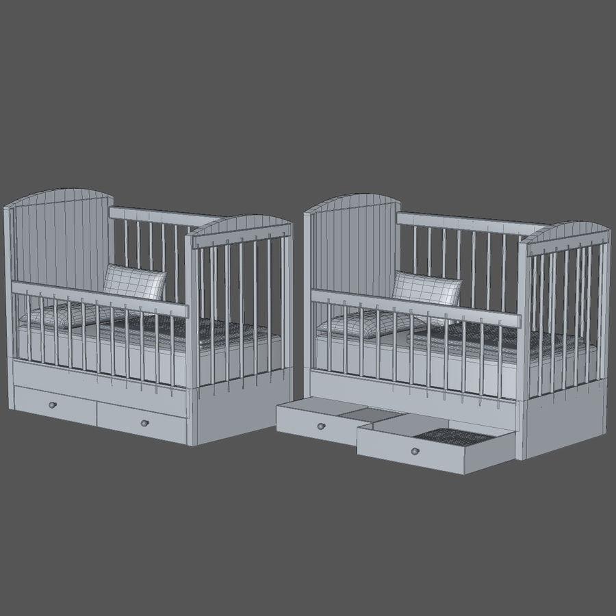 Spädbarn Spjälsäng royalty-free 3d model - Preview no. 8