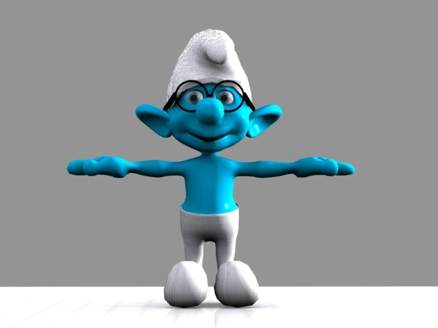 Brainy Smurf royalty-free 3d model - Preview no. 7