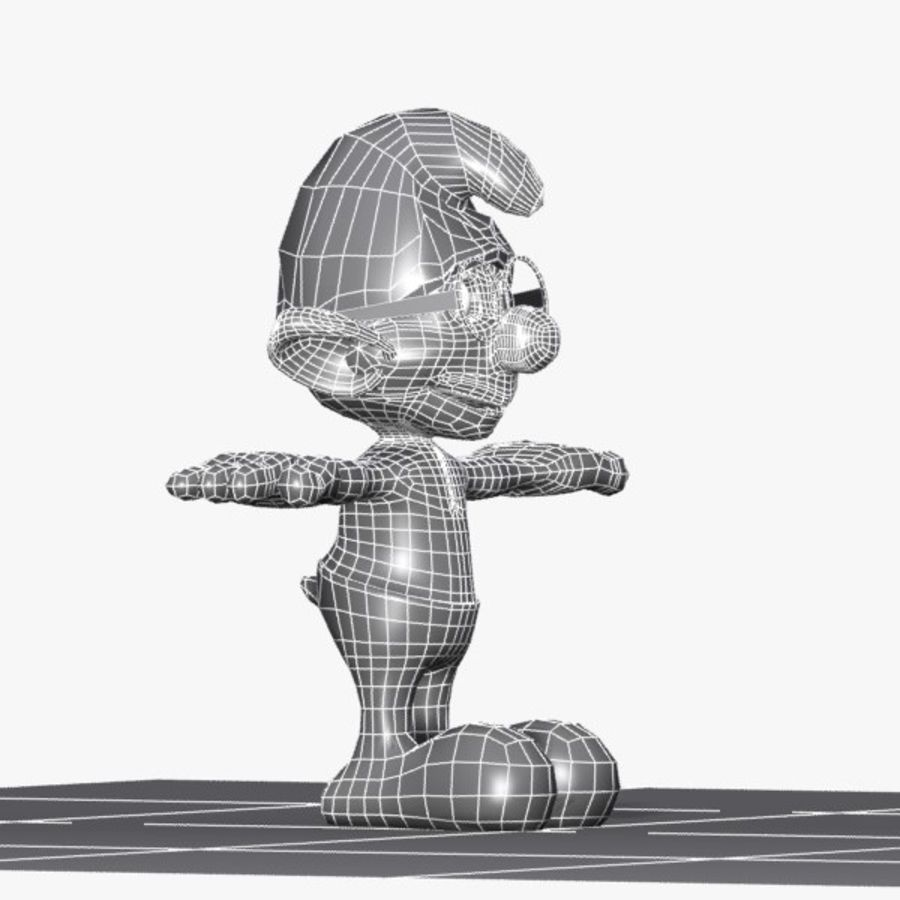 Brainy Smurf royalty-free 3d model - Preview no. 10