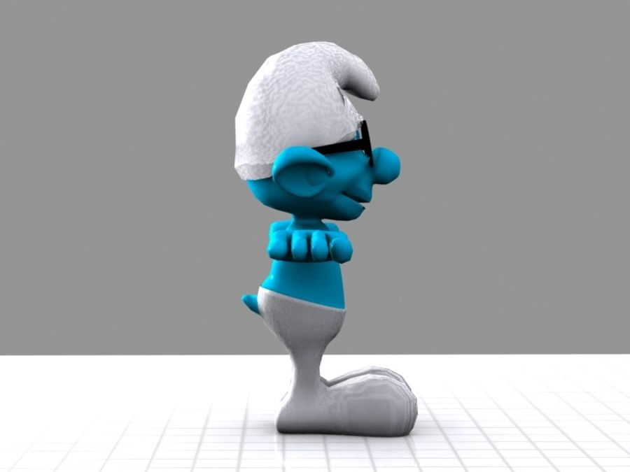 Brainy Smurf royalty-free 3d model - Preview no. 5