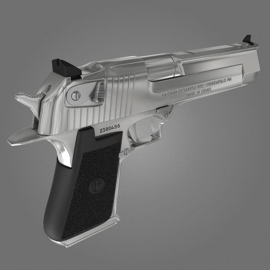 沙漠之鹰.50AE royalty-free 3d model - Preview no. 13