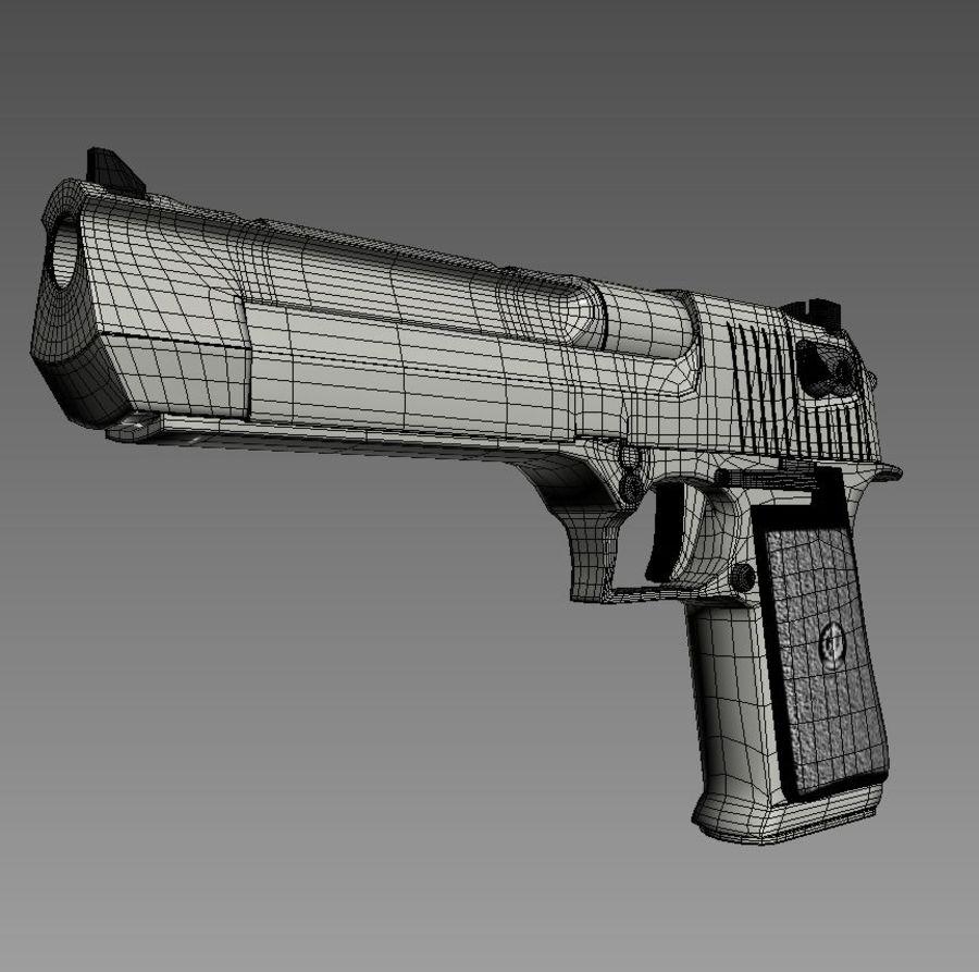 沙漠之鹰.50AE royalty-free 3d model - Preview no. 22