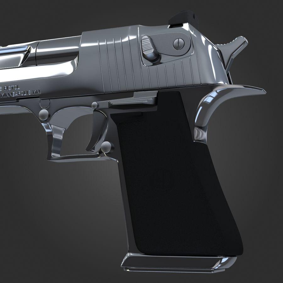 沙漠之鹰.50AE royalty-free 3d model - Preview no. 1