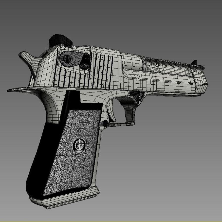 沙漠之鹰.50AE royalty-free 3d model - Preview no. 23