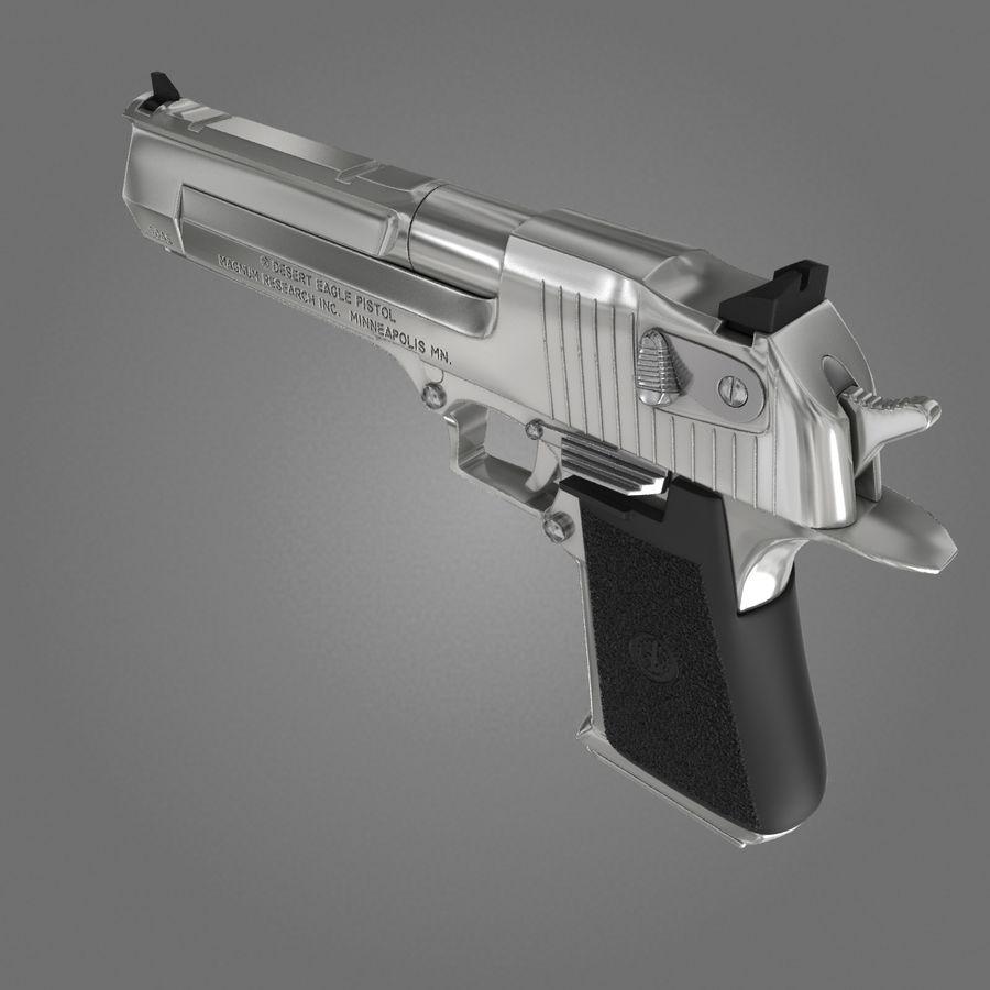 沙漠之鹰.50AE royalty-free 3d model - Preview no. 7