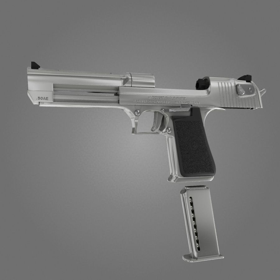 沙漠之鹰.50AE royalty-free 3d model - Preview no. 6
