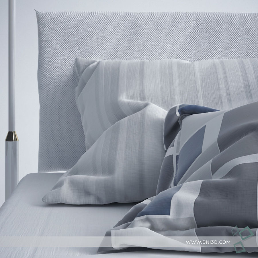 Bed Flou Krim royalty-free 3d model - Preview no. 3