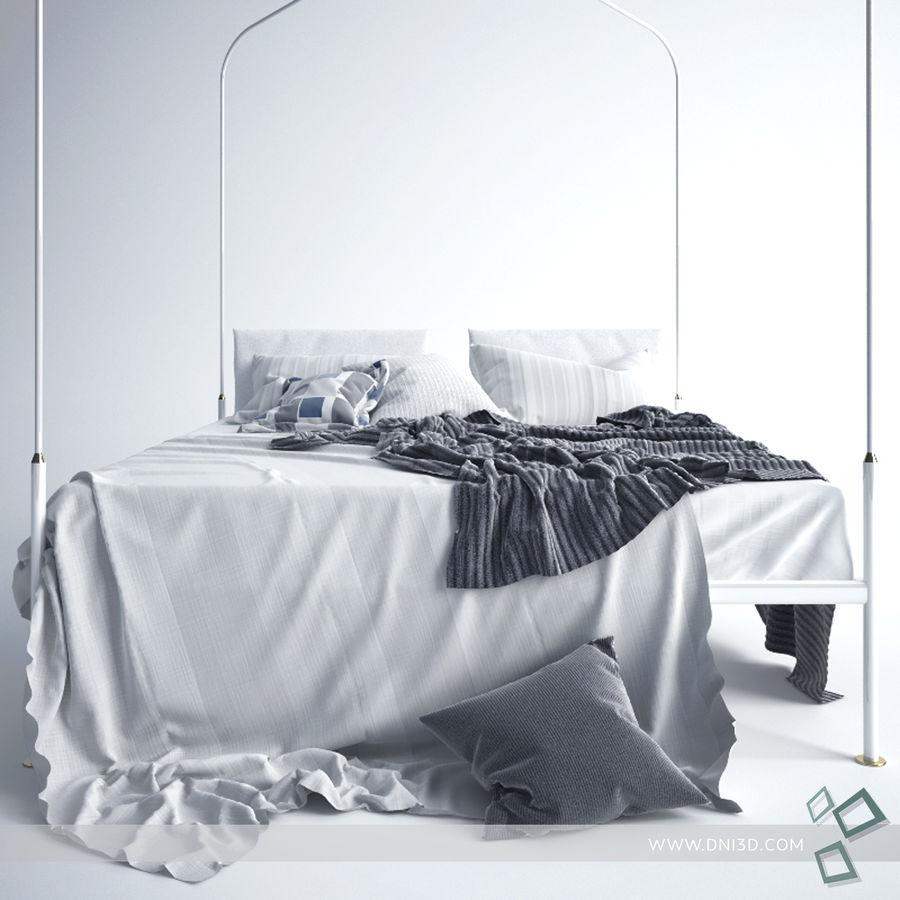 Bed Flou Krim royalty-free 3d model - Preview no. 4