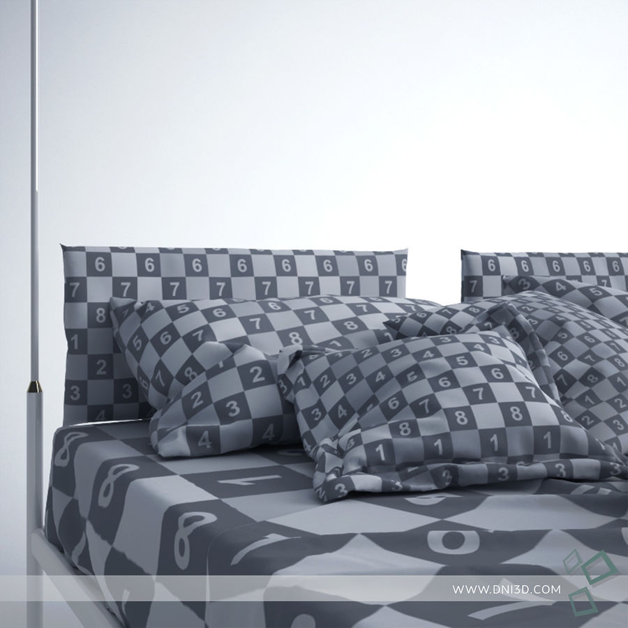Bed Flou Krim royalty-free 3d model - Preview no. 9