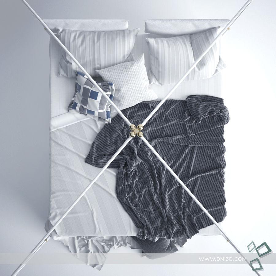 Bed Flou Krim royalty-free 3d model - Preview no. 5