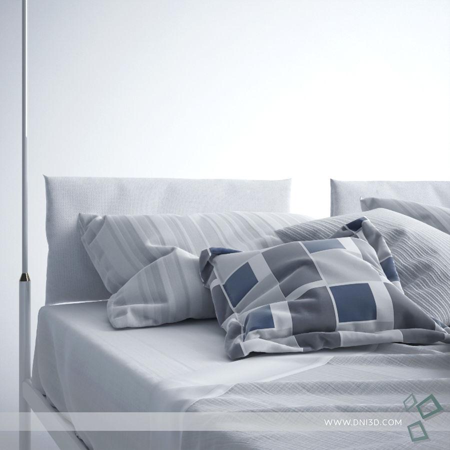 Bed Flou Krim royalty-free 3d model - Preview no. 8