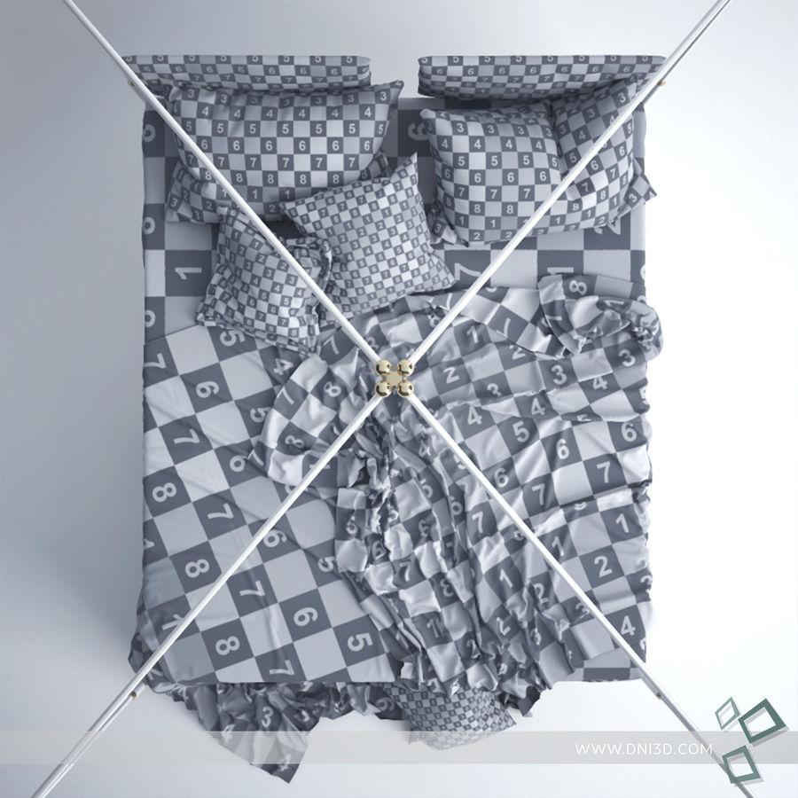 Bed Flou Krim royalty-free 3d model - Preview no. 6