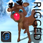 Rudolph la renna dal naso rosso 3d model