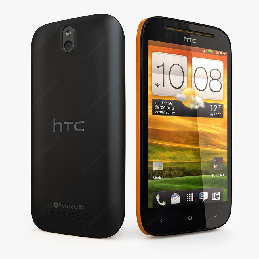 HTC Desire SV royalty-free 3d model - Preview no. 2