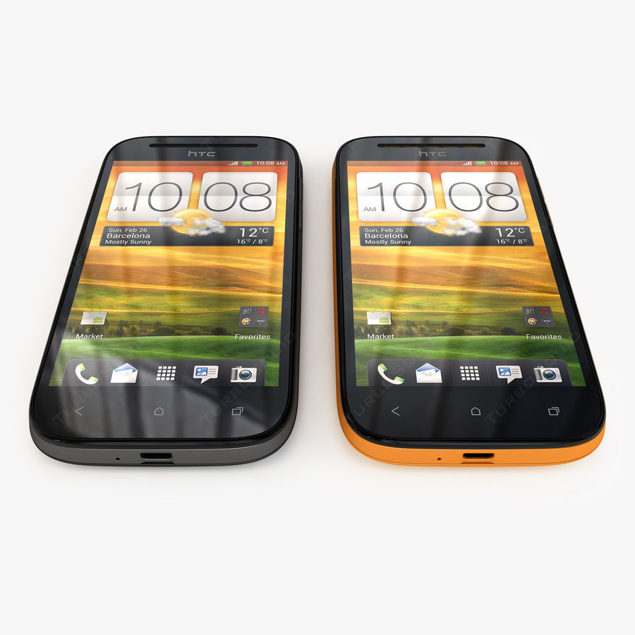 HTC Desire SV royalty-free 3d model - Preview no. 4