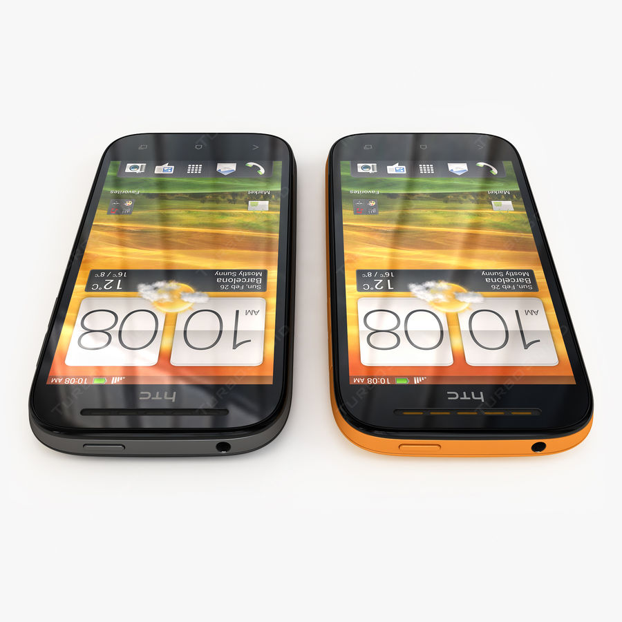 HTC Desire SV royalty-free 3d model - Preview no. 5