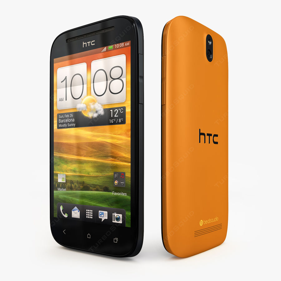 HTC Desire SV royalty-free 3d model - Preview no. 3