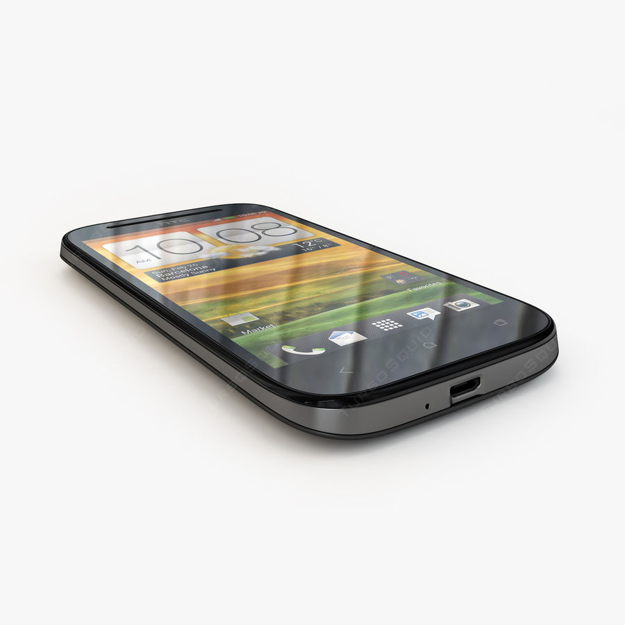 HTC Desire SV royalty-free 3d model - Preview no. 9