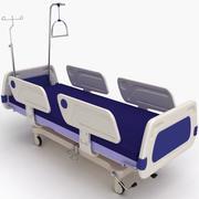 Łóżko szpitalne 01 3d model