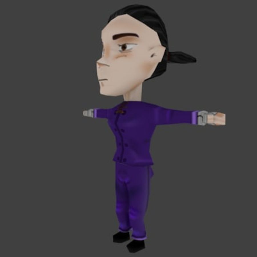 Personaje chibi royalty-free modelo 3d - Preview no. 4