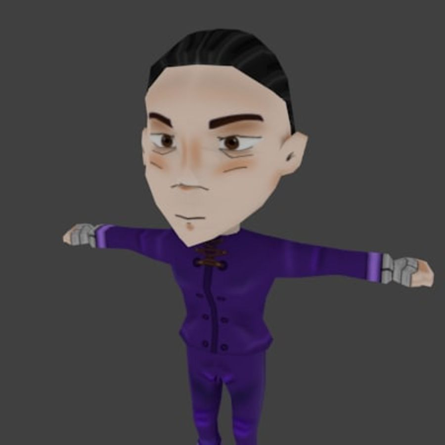 Personaje chibi royalty-free modelo 3d - Preview no. 1