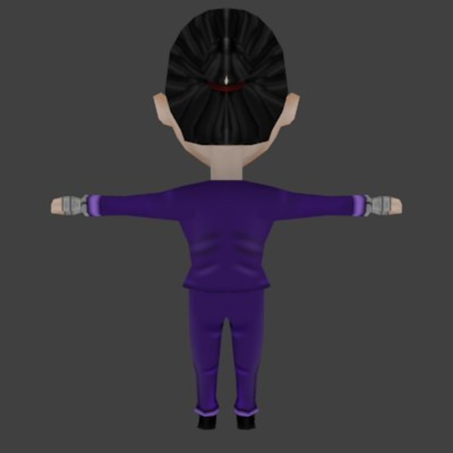 Personaje chibi royalty-free modelo 3d - Preview no. 2