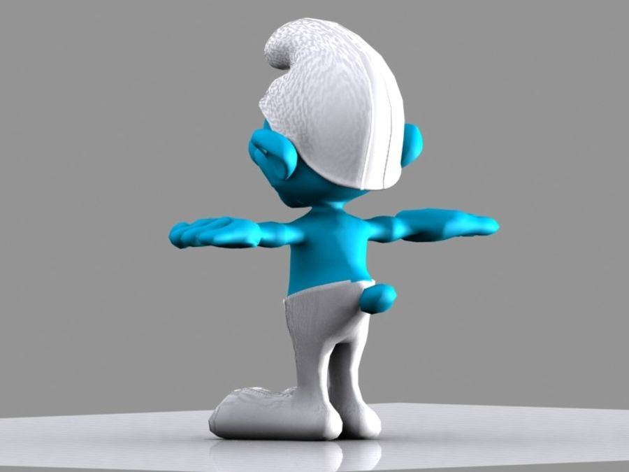 Smurf royalty-free 3d model - Preview no. 4