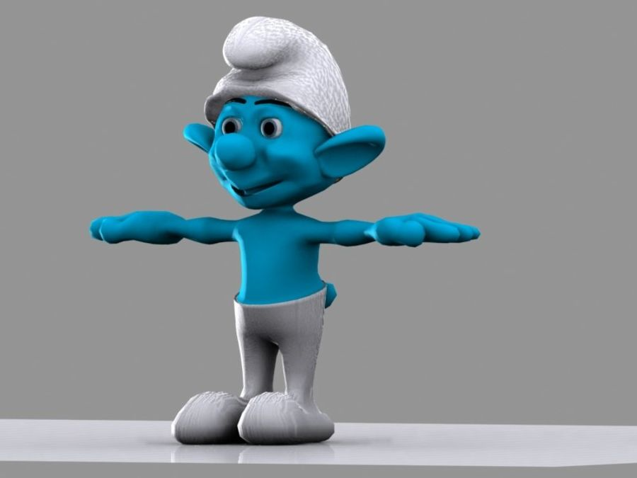 Smurf royalty-free 3d model - Preview no. 8