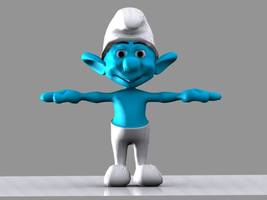 Smurf royalty-free 3d model - Preview no. 7